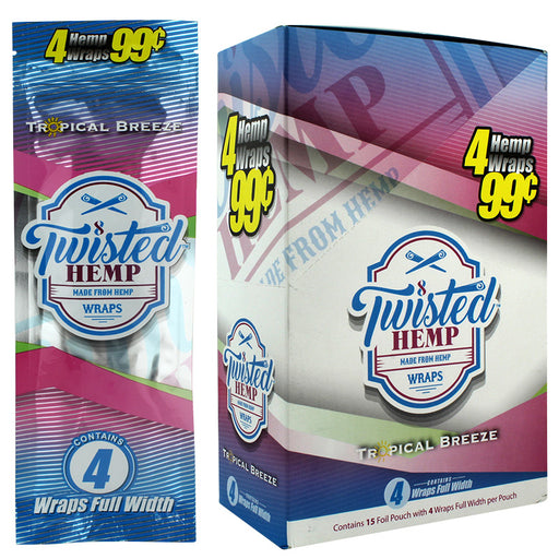 Twisted Hemp Wrap Tropical Breeze Flavor - Smoketokes