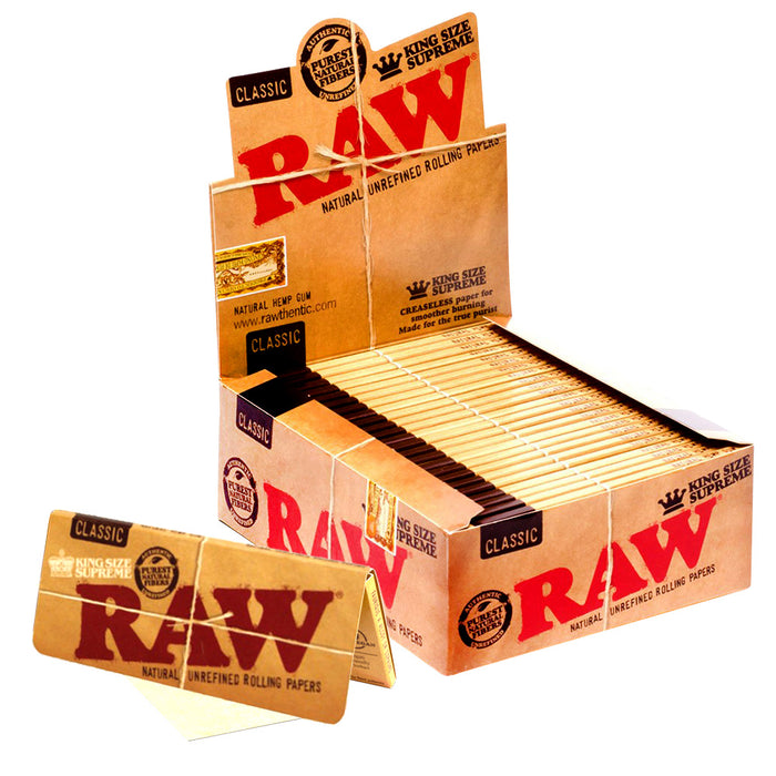 Raw Classic King Size Supreme Rolling Paper - Smoketokes