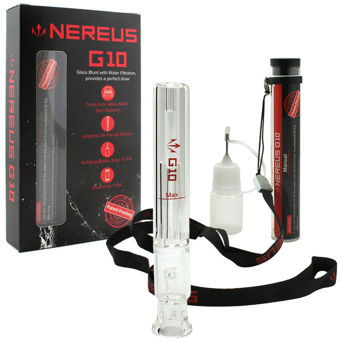 "4.5"" Atman Nereus G10 Glass Blunt Bubbler - Smoketokes"