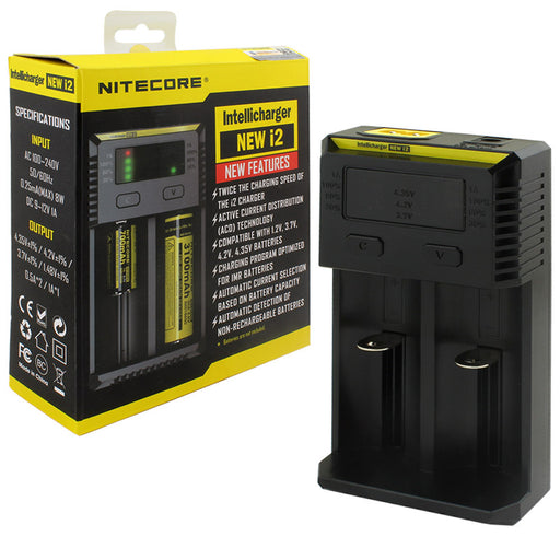 NITECORE i2 Battery Charger - Smoketokes