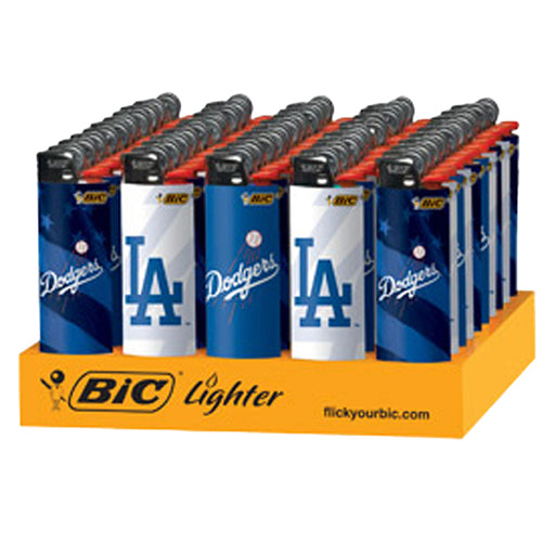 Bic Dodgers Flint Lighter Display - Smoketokes