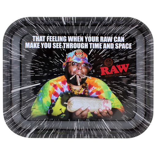 Raw Oops Large Metal Rolling Tray - Smoketokes