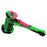 "8"" Hammer Silicone Bubbler Hand Pipe with Glass Bowl - Smoketokes"