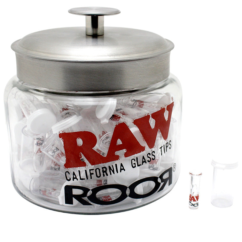 Raw x Roor Glass Tip Jar 75ct - Smoketokes