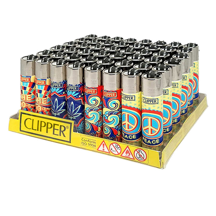 Clipper Hippie 2 Flint Lighter Display - Smoketokes