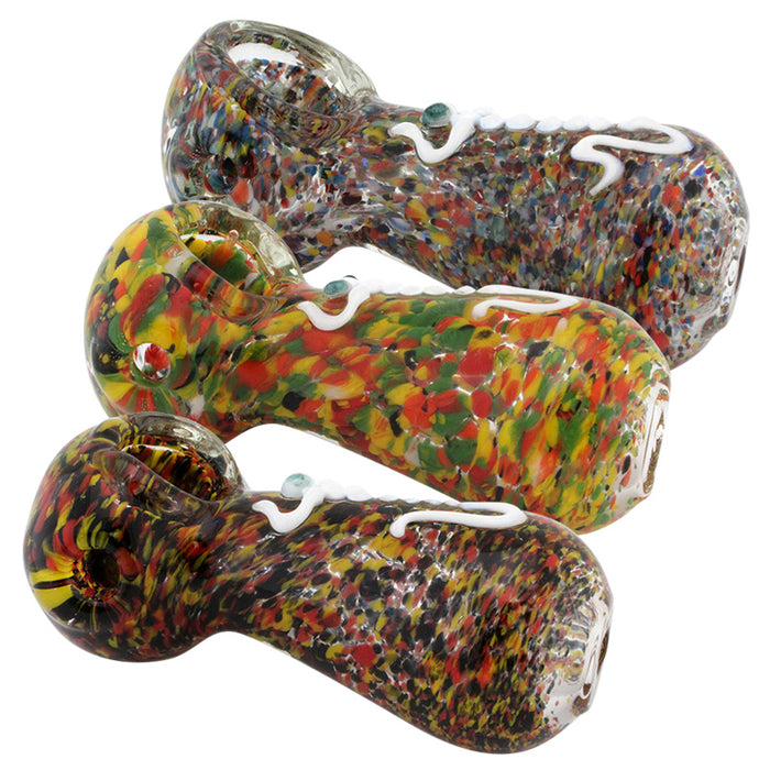"3.5"" Frit Glass Hand Pipe - Smoketokes"