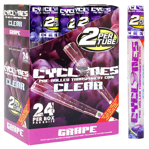 Cyclones Clear Cone Grape Flavor - Smoketokes