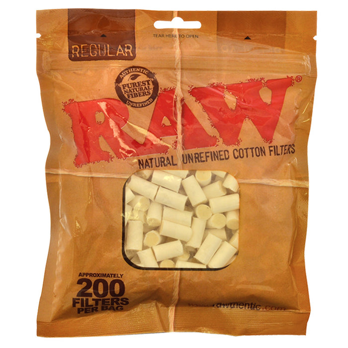 Raw Regular Natural Cotton Filters - Smoketokes
