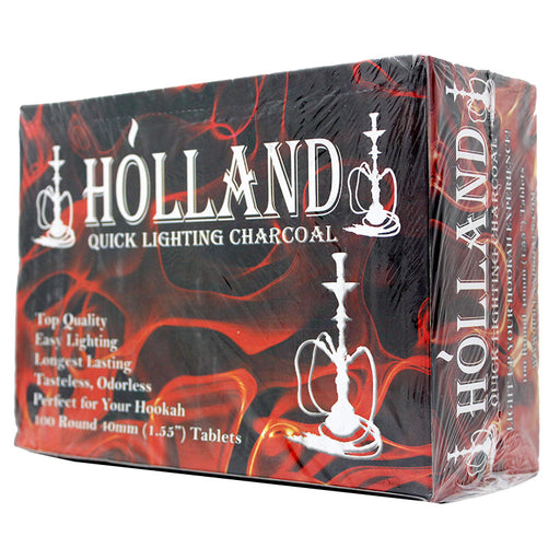 Holland 40mm Hookah Charcoal 100 Pcs - Smoketokes