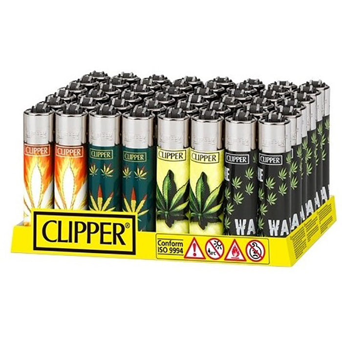 Clipper Hojas Maria Flint Lighter Display - Smoketokes