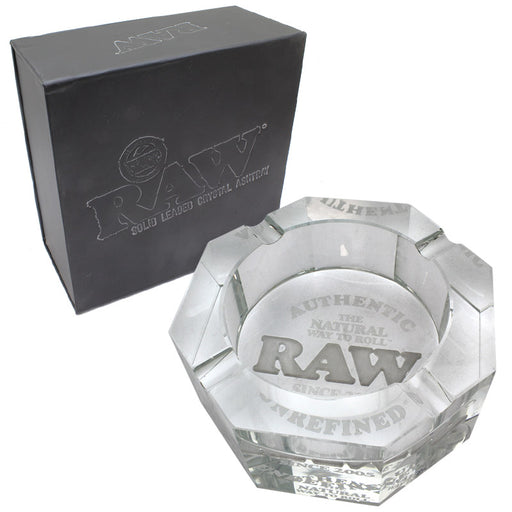 Raw Crystal Glass Ashtray - Smoketokes