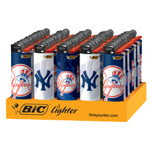 Bic Yankees Flint Lighter Display - Smoketokes