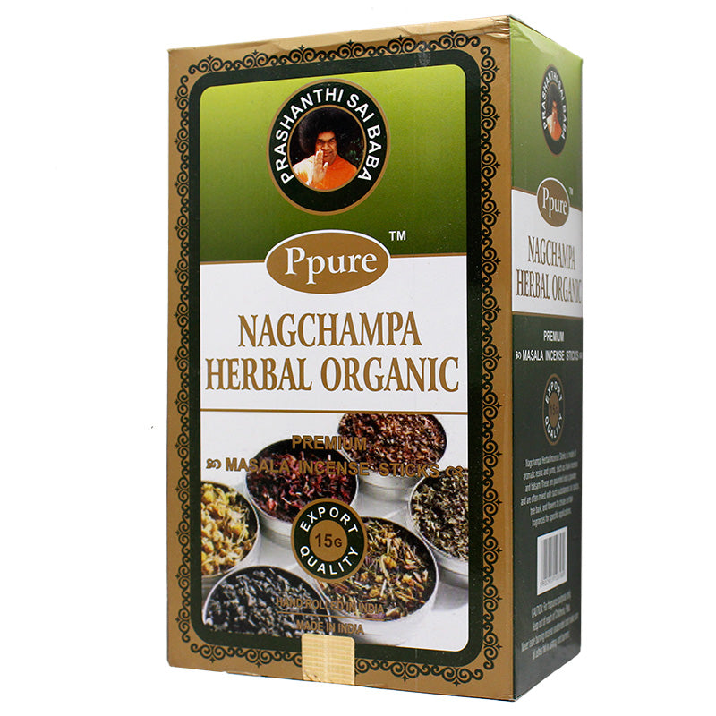 Ppure NagChampa Herbal Organic 15g Incense - Smoketokes