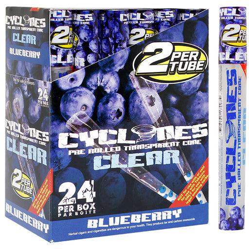 Cyclones Clear Cone Blueberry Flavor - Smoketokes
