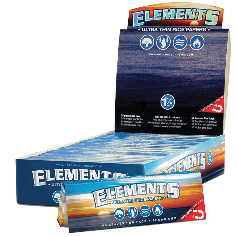 "Elements Magnetic 1 1/4"" Size Rolling Paper - Smoketokes"