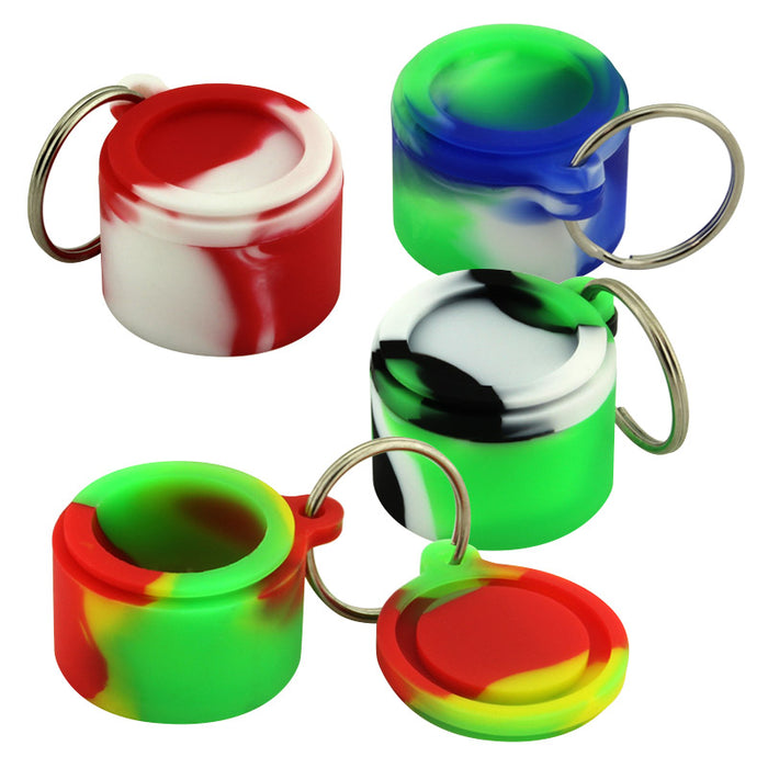 6ml Silicone Keychain Jar with Ring - Smoketokes