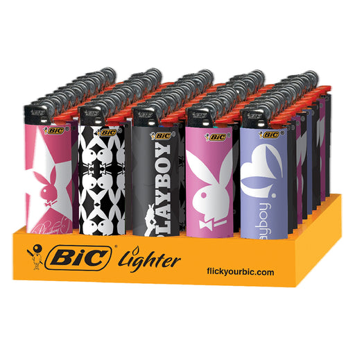 Bic Playboy Flint Lighter Display - Smoketokes