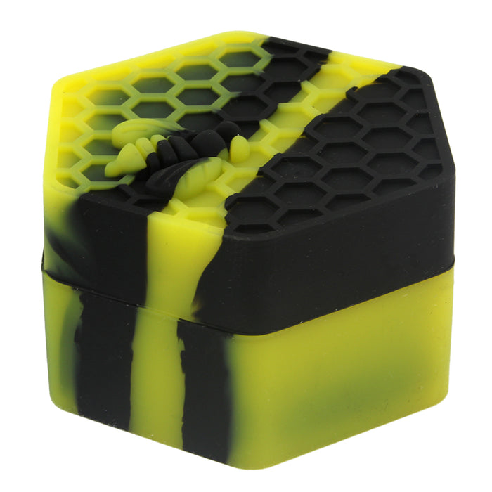 26ml Honeycomb Hexagon Silicone Jar - Smoketokes