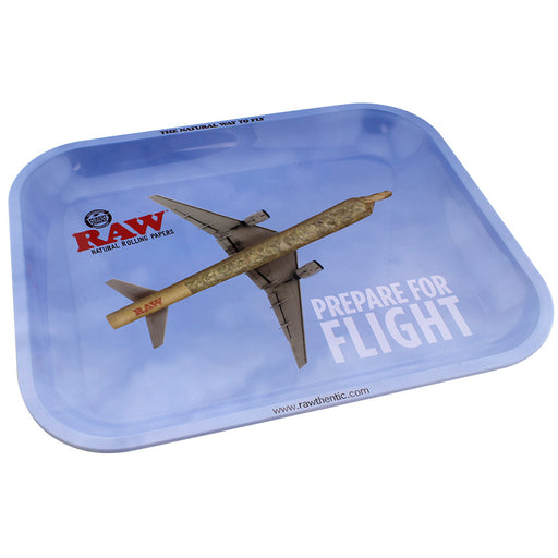 Raw Flying Large Metal Rolling Tray - Smoketokes