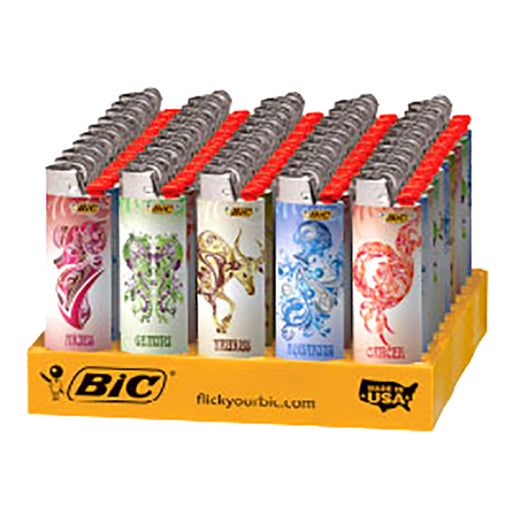 Bic Astrology Flint Lighter Display - Smoketokes