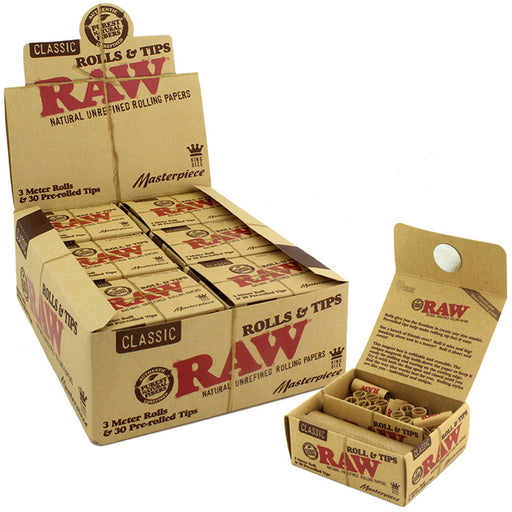 Raw Masterpiece King Size Rolls & Pre-rolled Tips - Smoketokes
