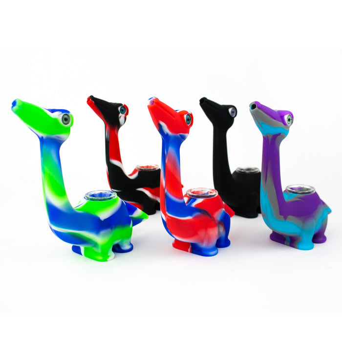 Dinosaur Silicone Hand Pipe