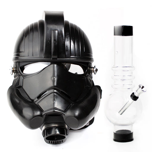 Black Storm Troopers Gas Mask with Acrylic Water Pipe