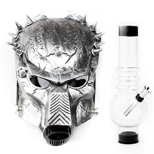Predator Gas Mask with Acrylic Water Pipe