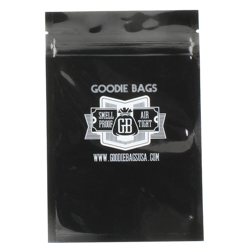 Goodie Bags Smell Proof Ziplock Medium Black