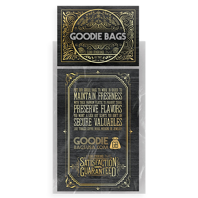 Goodie Bags Smell Proof Ziplock Large Clear (5 Bags)