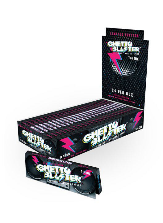"Ghetto Blaster 1 1/4"" Hemp Rolling Papers"