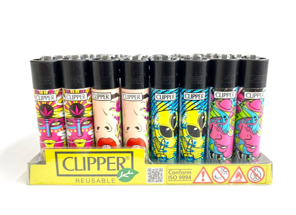 Clipper Psychedelic Face Lighter - Special Edition