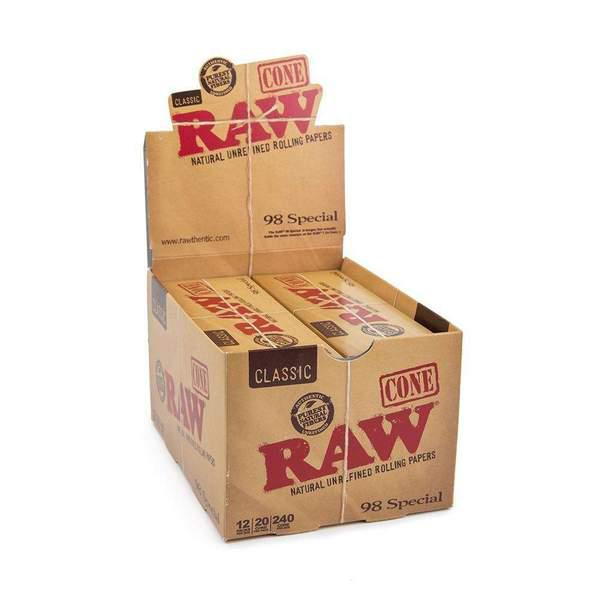 Raw Classic 98 Special Cones - 12/Display
