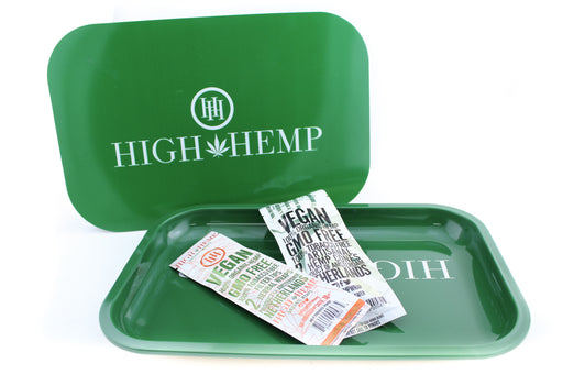 High Hemp Rolling Wraps & Tray with Magnetic Lid Bundle