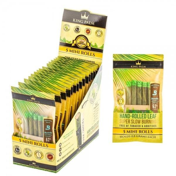 King Palm 5 Mini Rolls 15pk Display