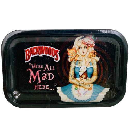 Backwoods Alice in Wonderland Rolling Tray