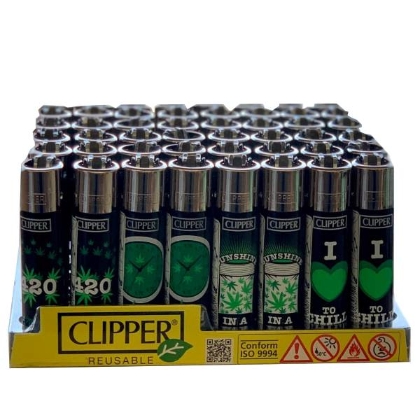 Clipper Green Leaves Lighter - 420 Special Edition