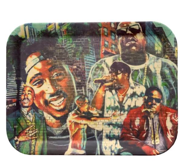 Tupac And Biggie Rolling Tray Smoketokes