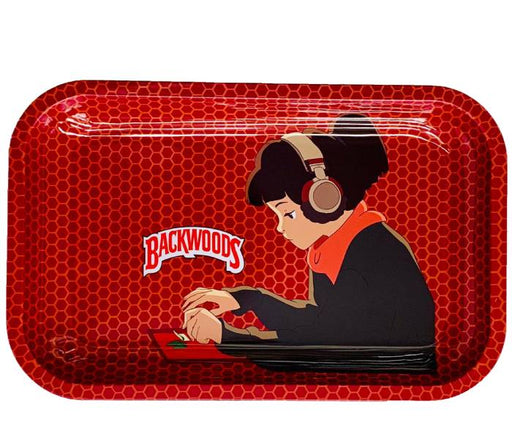 Backwoods LoFi Hip Hop Girl Rolling Tray
