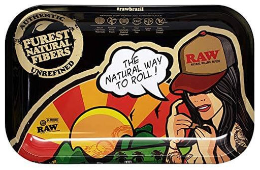 Raw Brazil Girl Rolling Tray Small