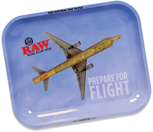 Raw Flying Large Metal Rolling Tray