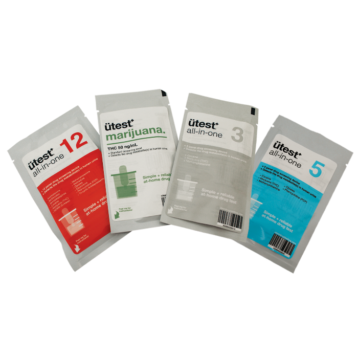 5 Panel Drug Test Kit U-test - THC, Cocaine, Methamphetamine, Opiates, PCP