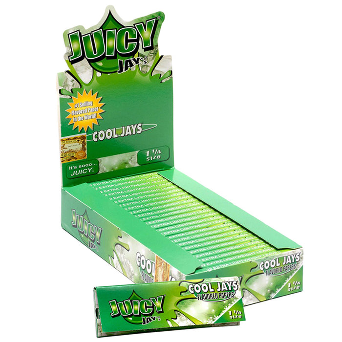 "Juicy Jay's 1 1/4"" Size Rolling Paper Cool Jays Flavor - Smoketokes"