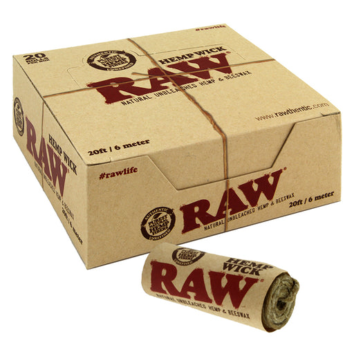 Raw Hemp Wick 20ft 20ct - Smoketokes