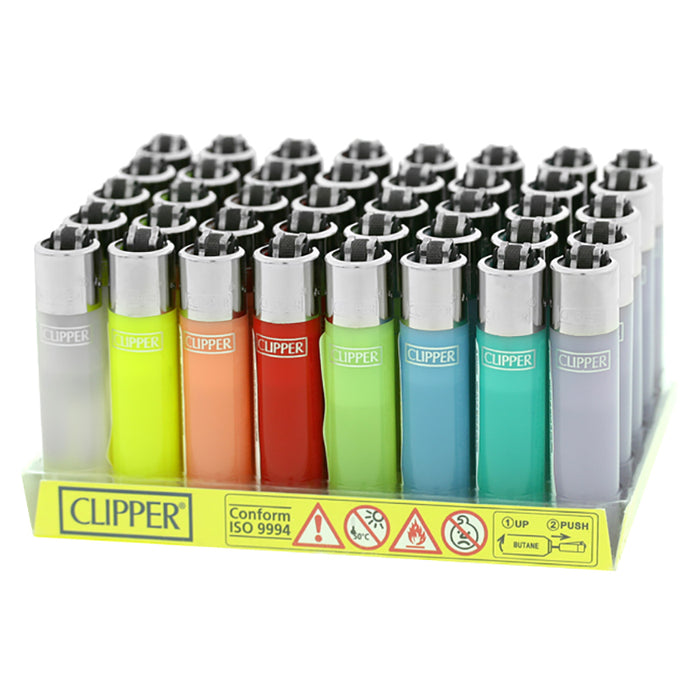 Clipper Soft Touch Mini Flint Lighter Display - Smoketokes