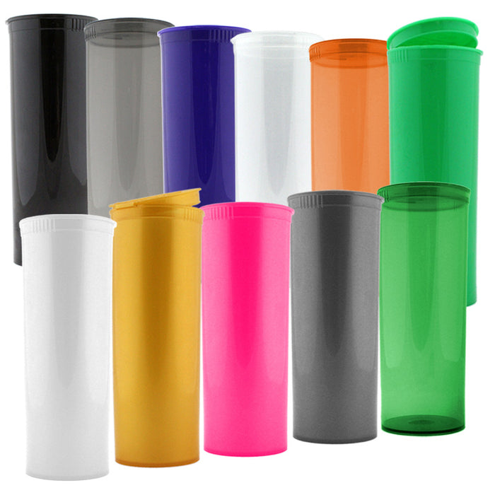 Pop Top 60 Dram Plastic Vials Case of 75 - Smoketokes