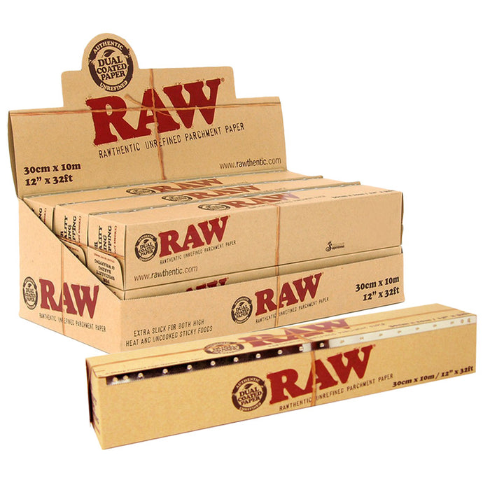 "Raw 12"" x 32ft Parchment Paper Roll - Smoketokes"