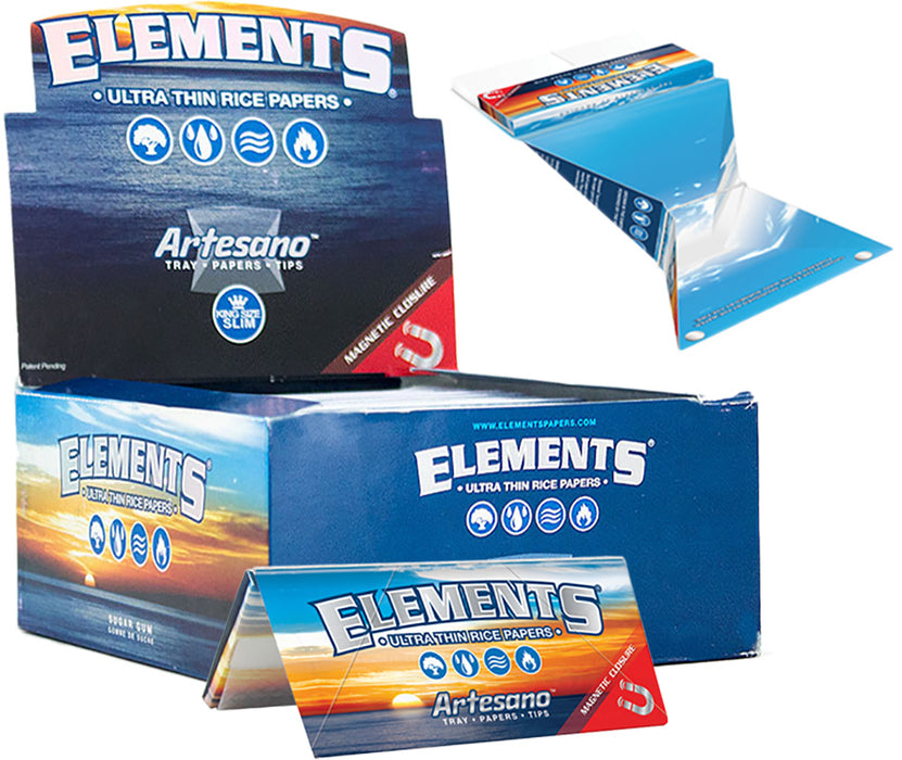 Elements Artesano King Size Slim Rolling Paper - Smoketokes
