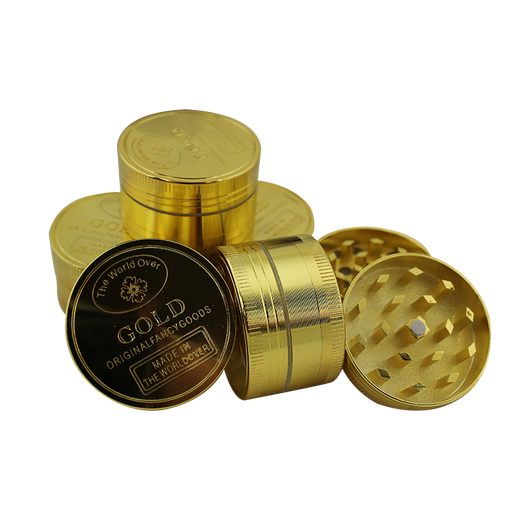 "3 pt 1.5"" Gold Coin Grinder Display - Smoketokes"