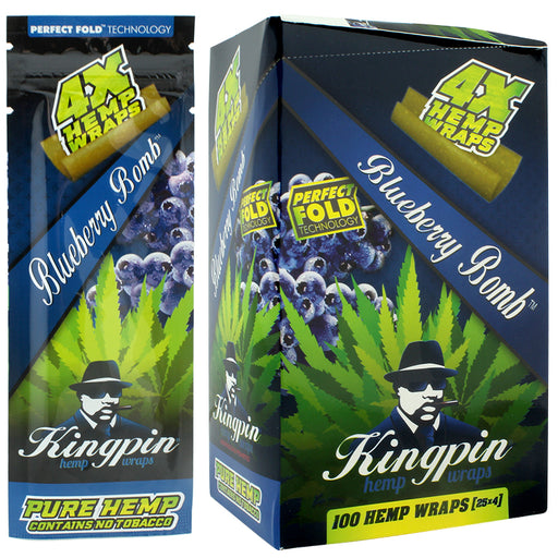 Kingpin Hemp Wrap Blueberry Bomb Flavor - Smoketokes